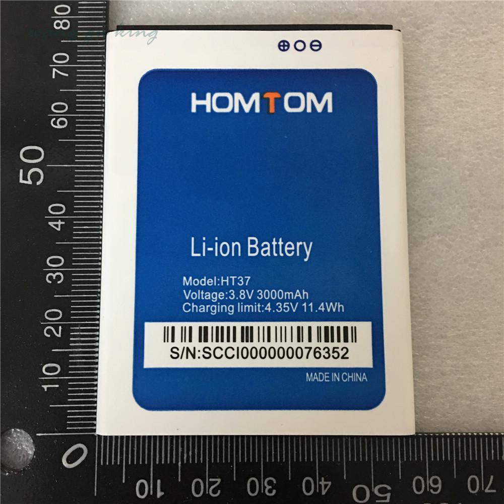 Tracking Number Wisecoco Ht37 3550mah Newly Produced High Quality Battery For Homtom Ht37 Ht 37 Pro Phone Battery Replacement Mobile Phone Batteries