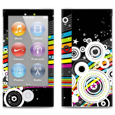 Quality 3m vinyl material cute girl style stickers for ipod nano 7