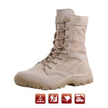 Combat military boots tactical outdoor non-slip waterproof light weight combat for men