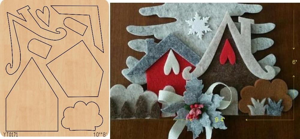 Love house DIY wooden die Scrapbook mold cutting tool die YT0171