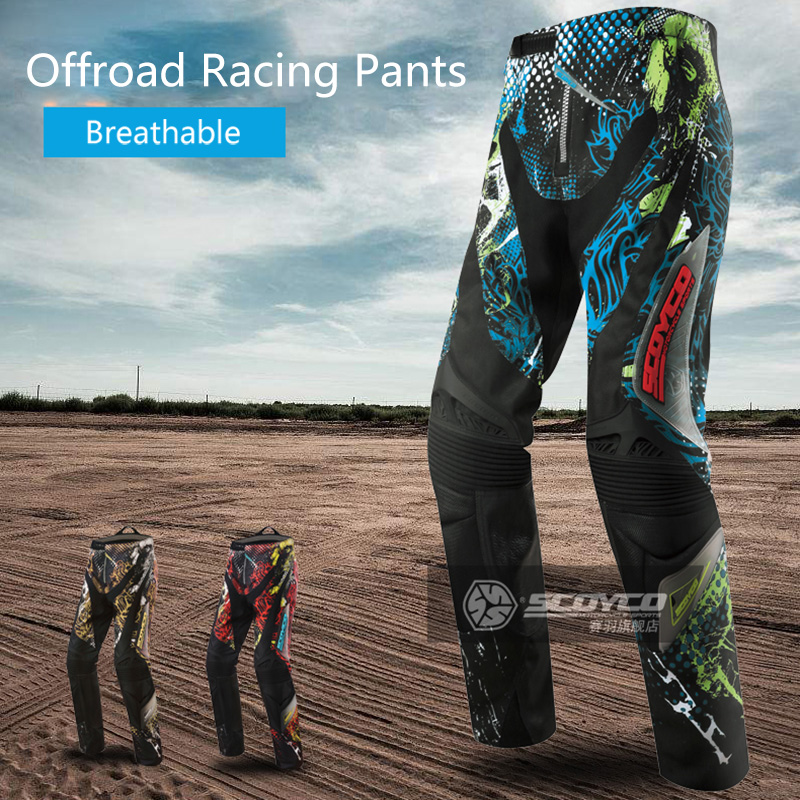 Scoyco Motorcycle Cross-country Pants Ktm Motocross Bikecycle Outdoor Sports Protective Clothing Pants Pantalon Moto Men Women scoyco motorcycle riding knee protector extreme sports knee pads bycle cycling bike racing tactal skate protective ear