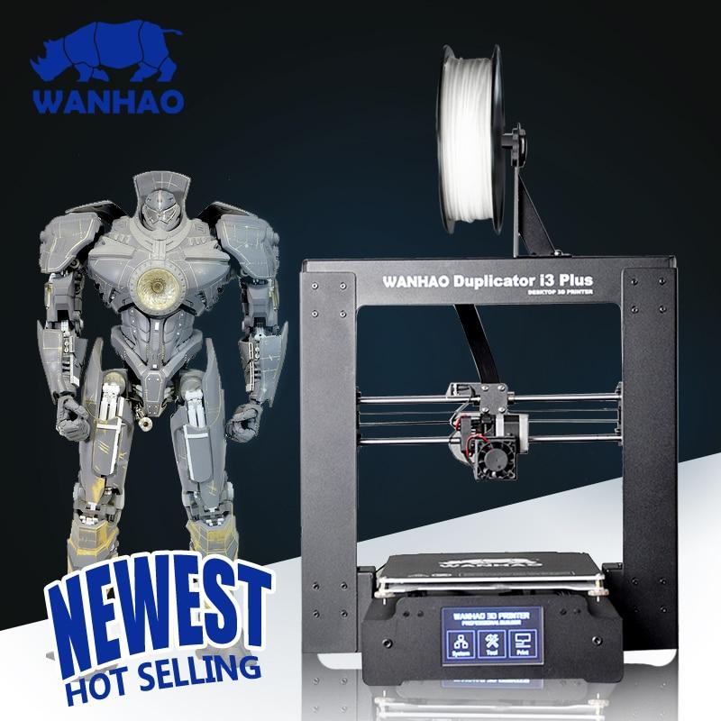2016 New WANHAO Duplicator I3 PLUS Steel Frame Desktop Prusa 3D Printer digital Printer 3D Machine new mootooh personal fdm 3d printer digital desktop printer prusa i3 3d printer for discount
