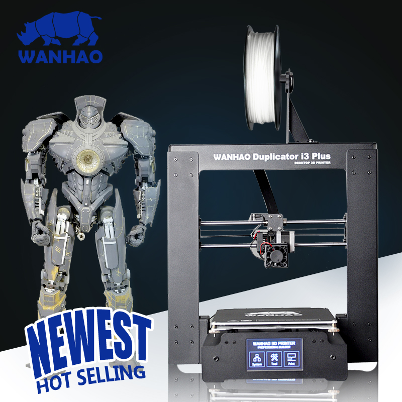 2018 New WANHAO Duplicator I3 PLUS Steel Frame Desktop Prusa 3D Printer digital Printer 3D Machine 2018 new upgrade wanhao i3 plus 2 0 wanhao i3 plus mk2 reprap developer prusa wanhao 3d printer with touch screen auto level