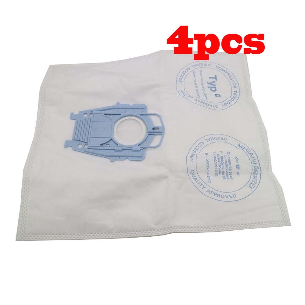 4pcs Good Vacuum Cleaner Microfleece Type P Filter Dust Bag for Bosch Hoover Hygienic professional BSG80000 468264 461707 free shipping vacuum cleaner dust bag fit for genuine bosch vacuum cleaner hoover dust bags type p 468264 461707 pack of 10