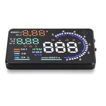 EDFY Car HUD Head Up Display, A8 5.5 Car OBD II 2 Speed Warning System Fuel Consumption
