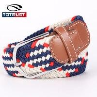 Korean Edition Tide Female Model Of Elastic Stretch Woven Canvas Belt Color Belt