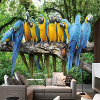 Custom Photo Wall Mural Wallpaper 3d Luxury Quality HD Beautiful Parrot Singing The Natural Beauty Of