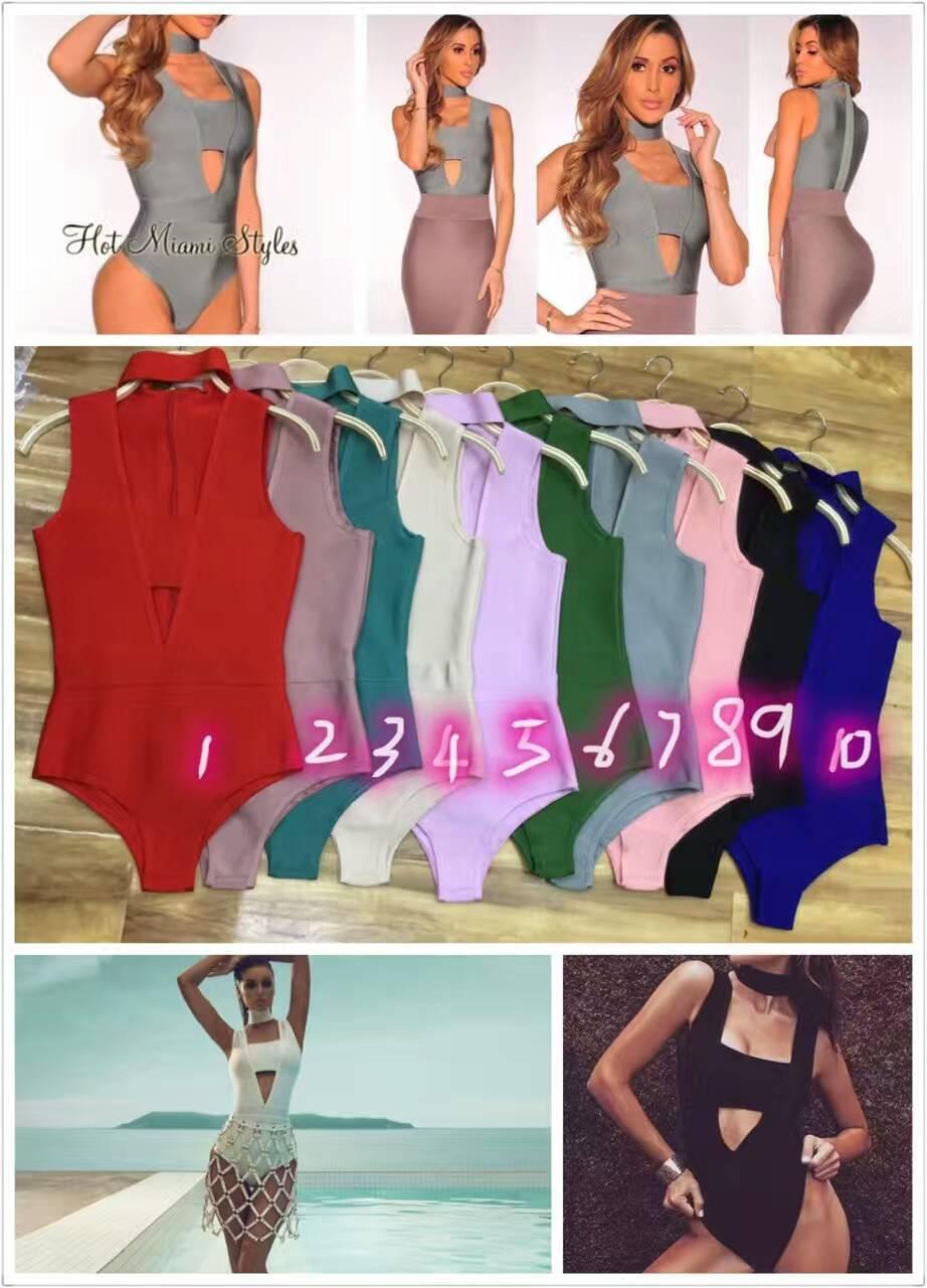 2017 Bodysuits Women Sexy Black sleeveless summer Patchwork Design Rompers Sheath Playsuit Bodycon Harajuku Club Jumpsuits B-285