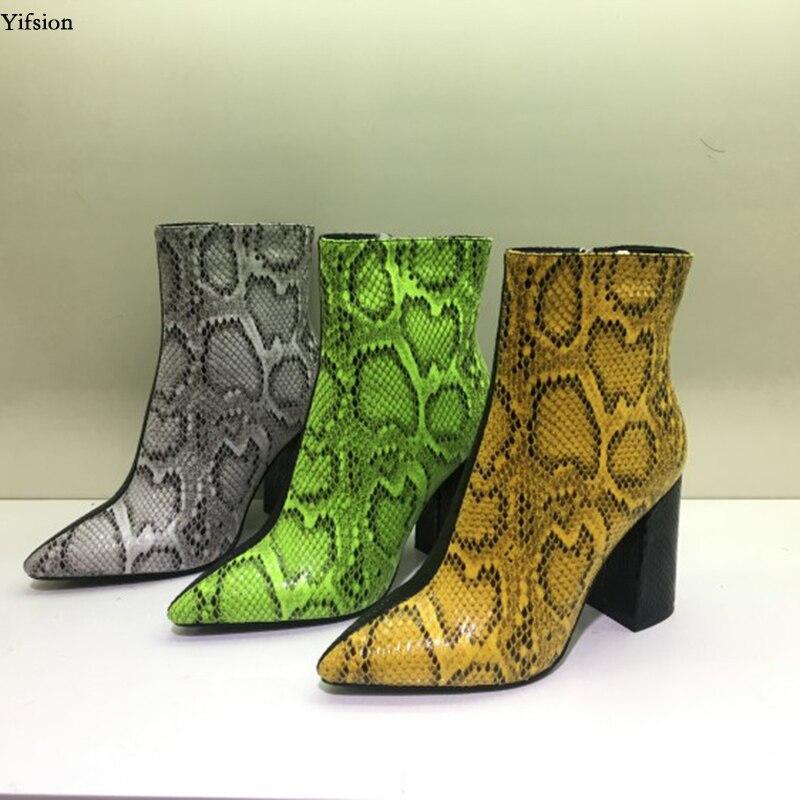 D0949 Chaussures Carré Yifsion Jaune 10 Dames Gris Bottes Taille Grey d0949 Pointu Bout Talons Green Sexy Bottines Américaine Femmes d0949 À 5 Nouveau Bureau 5 Yellow Vert Hauts ID92EHYeW