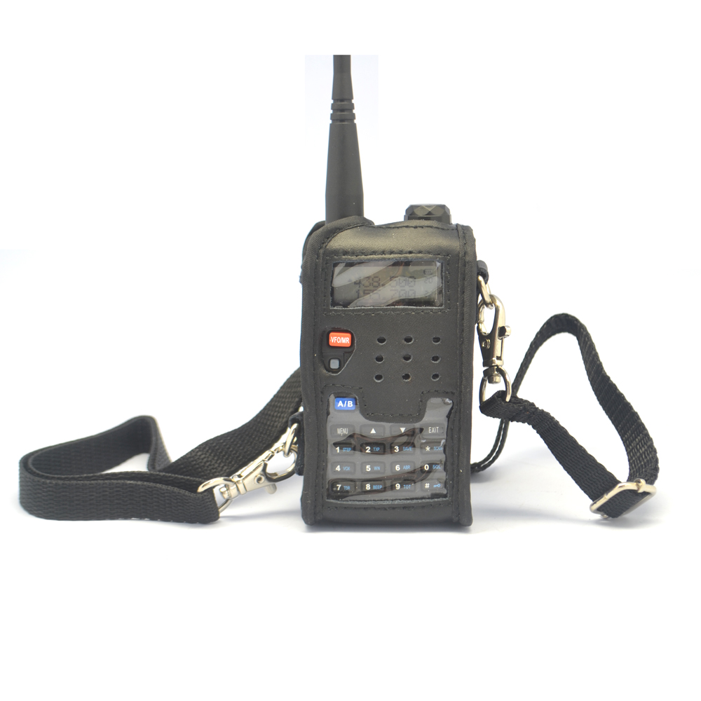 Baofeng Walkie Talkie Accessories Leather Soft Case Cover Two Way Radio For Baofeng UV-5R UV-5RE UV-5RA DM-5R Plus Walkie Talkie