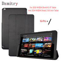 Voor NVIDIA SHIELD Tablet K1 8.0 cover Ultra Slim Flip leather cover voor 2015 Nvidia Shield K1/2014 Shield 2 Tablet case + Pen