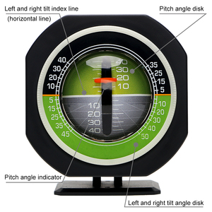 Image 3 - LEEPEE Auto Slope Meter Level Inclinometer Angle Car Compass Car Vehicle Declinometer Gradient High precision Built in LED