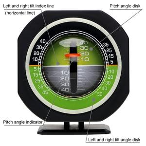 Image 3 - LEEPEE السيارات المنحدر متر مستوى الميل زاوية سيارة البوصلة سيارة الانحدار التدرج عالية الدقة المدمج في LED