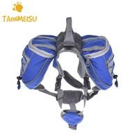 Multifunctional Adjustable Shoulder Strap Dog Supply Backpack Saddle Bag For Camping Hiking Training Mountain Climbing 1pcs