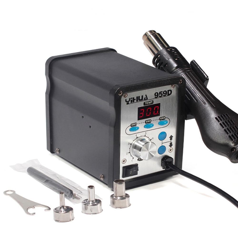 YIHUA 959D 220V 650W Hot Air Gun Digital Soldering Station Desoldering Station Iron Tool Solder Welding