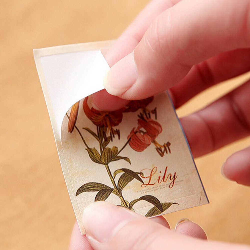52 ชิ้น/ถุง DIY มินิน่ารักดอกไม้กระดาษสติกเกอร์ Vintage Retro กระดาษสำหรับ Scrapbooking ตกแต่งบ้าน Scrapbooking สติกเกอร์