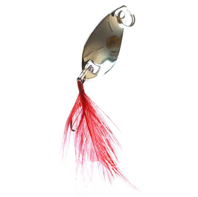 Leurre de pêche à Long tir brillant leurre de pêche en métal volant dur avec plume Wobbler carpe matériel de pêche Spinner