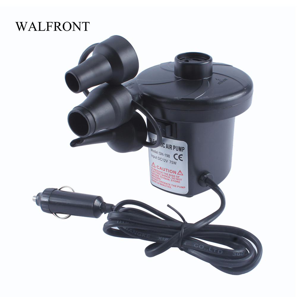 walfront electric air pump 380l min inflatable outdoor air bed pump