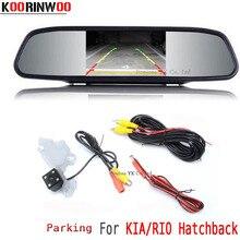Koorinwoo License Lamp Car rear view camera for KIA/RIO Hatchback Vehicle 4.3″ Mirror Monitor RCA Digital Video Parking Assist