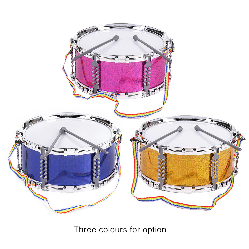 buy colorful jazz snare drum percussion instrument with drum sticks strap. Black Bedroom Furniture Sets. Home Design Ideas