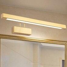 9 Вт/12 Вт/14 Вт/16 Вт светодиодный настенный светильник бра, регулируемый зеркальный передний светильник, светильник SMD 2835, Золотая раковина для ванной комнаты