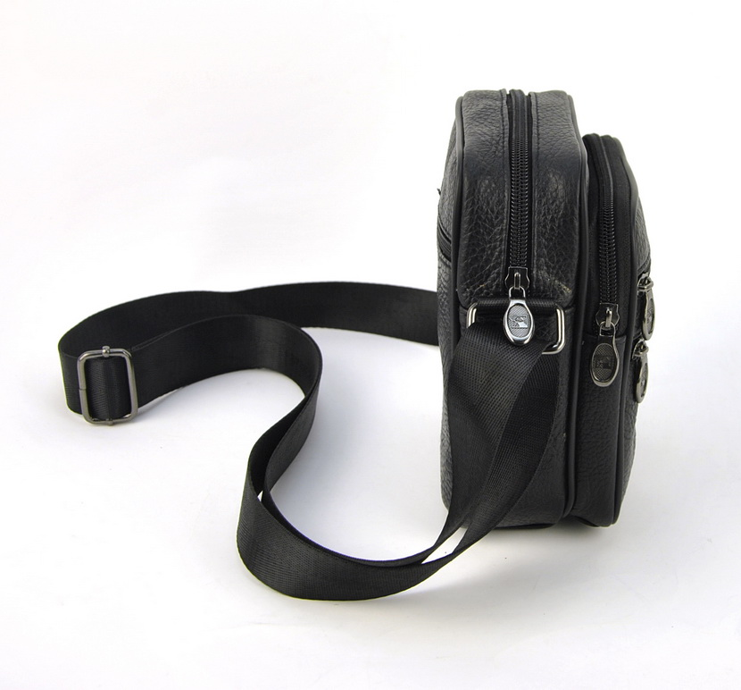 Men Genuine Leather Small Messenger Shoulder Bag Classic Cross Body Satchel Bags