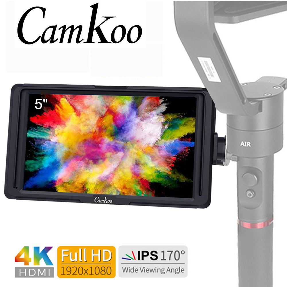 Camkoo CK5 5 Inch IPS DSLR Camera Field Monitor 4K HDMI FHD 1920x1080 DC Output LCD