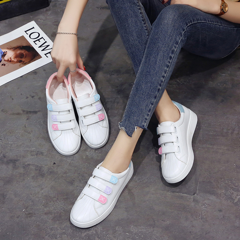 New Designer Wedges White Shoes Female Platform Sneakers Women Casual Woman pink Solid color NVX27