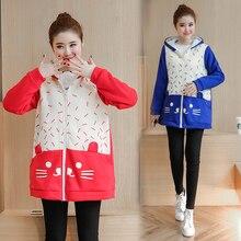 Plus Velvet Autumn/winter Maternity Sweater Fleece Maternity Hoodies Pregnancy Fleece Jacket Outerwear Maternity Clothing B410