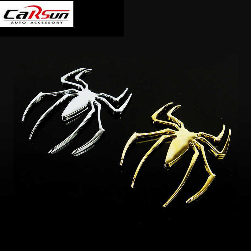 Unversal Fashion 3D Spiderman Mobil Stiker Metal Spider Man Auto DIY Stiker Mobil Styling ZX170