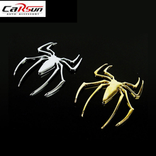 Unversal Fashion 3D Spiderman Car Sticker Metal Spider Man Auto DIY  Styling ZX170