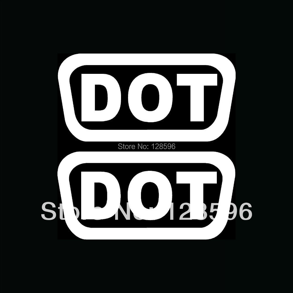 2x DOT Stickers for Car Rear Windshield Vinyl Decals D.O.T. Motorcycle Bike  Replace
