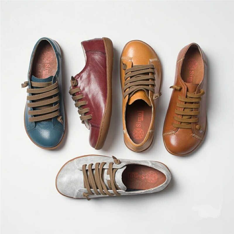 Kadın yaz ayakkabı kadın baleriny kadınlar üzerinde kayma düz bahar ayakkabı kadın deri rahat grubu Barefoot ayakkabı sneakers ayakkabı