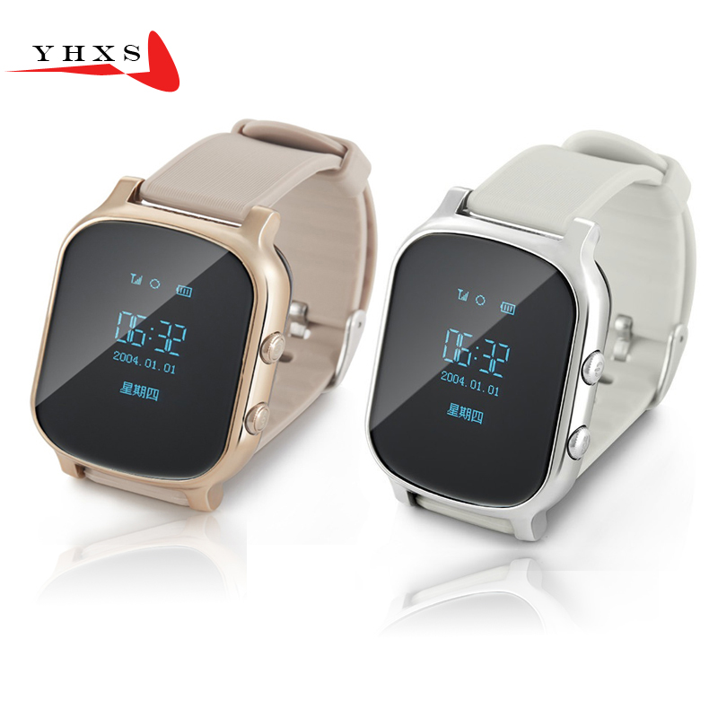 Smart Kid Safe OLED Watch SOS Call GPS WIFI Location Finder Tracker for Child Elder Anti