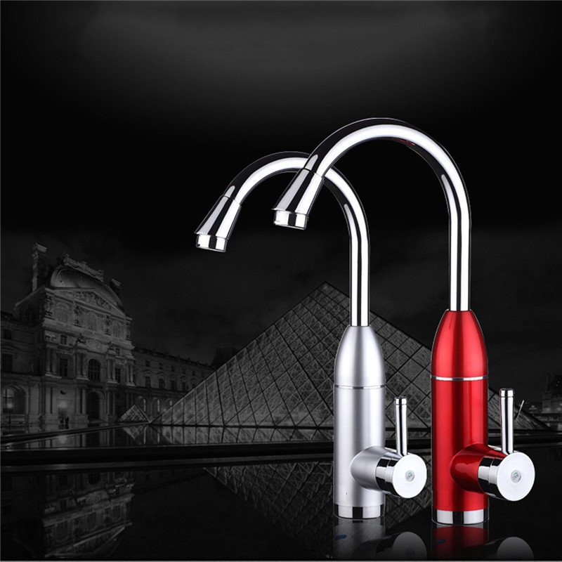 XMS03-4, pantalla digital instantánea grifo de agua caliente, cocina calentador de agua, con enchufe de la UE, 3000 W