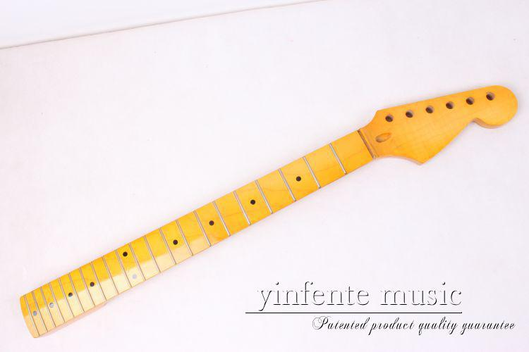 38# New Unfinished Electric guitar neck  maple  Fingerboard 22 fret 25.5 new unfinished electric guitar neck truss rod 24 fret 25 5 free shipping dropshipping wholesale