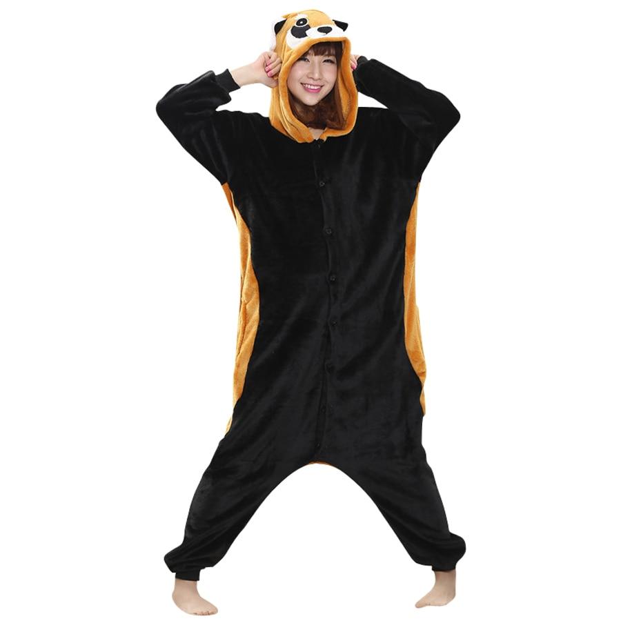 S Raccoon Halloween Costume | Animal Costume Raccoon Flano Onesie For Adult Women Men S Pajamas