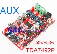 Best price TDA7492P 50W*2 Wireless Bluetooth 4.0 Audio Receiver Digital Amplifier Board AUX