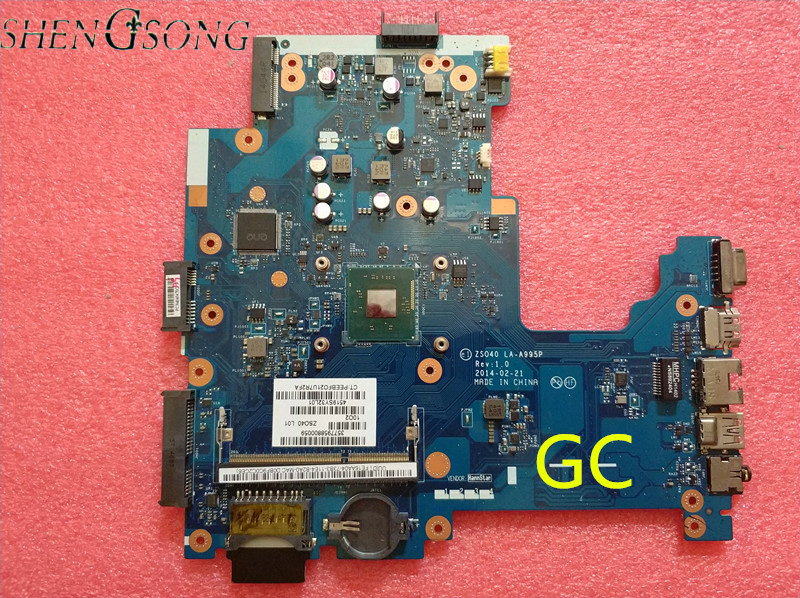 788004-501 788004-001 788004-601 For 240 G3 14-R Notebook motherboard ZS040 LA-A995P Rev 2.0 with Pentium N2840 CPU nokotion main board for hp 240 g3 laptop motherboard zs040 la a995p n3530 cpu ddr3 full test