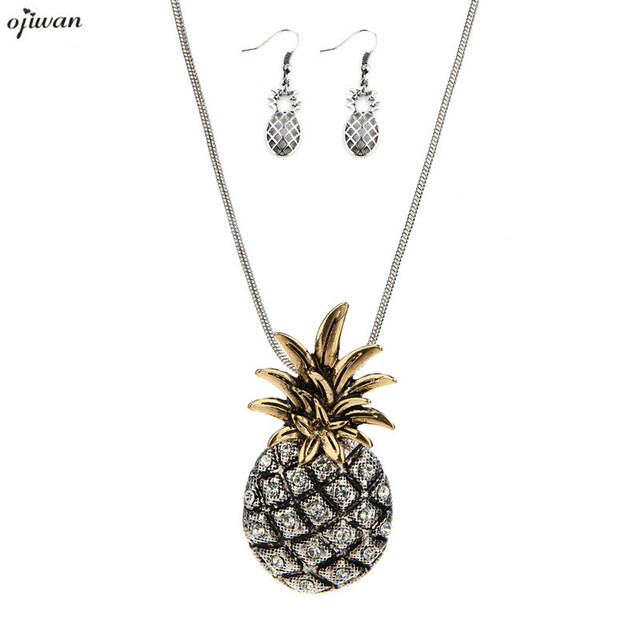 pineapple silver sterling row wellesley necklace pendant products