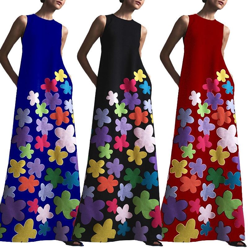 Summer Beach Dress Ladies Tunics Pareo Large Size Woman On The New 2019 Women Bohemia Printed