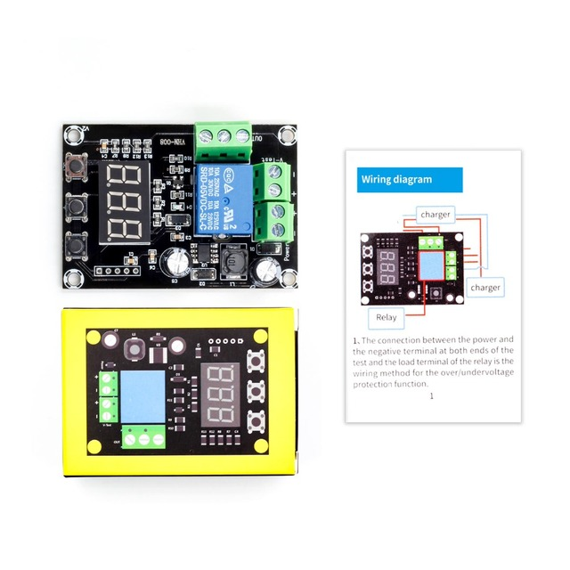 VHM 008 bateria de carregamento e descarga módulo integrado medidor de tensão sob tensão proteção contra sobretensão cronometragem de carregamento de um