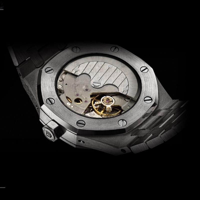 DIDUN Automatische Uhr Männer Mechanische Uhr Top Luxus Marke Männlichen Mond Phase Tauchen Kalender Armbanduhr Wasserdicht-in Mechanische Uhren aus Uhren bei  Gruppe 2