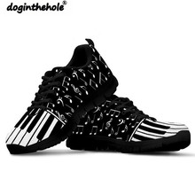 Doginthehole Piano Music Sneakers Walking Shoes Women Outdoor Sport Shoes Mesh Breathable Fitness Anti skid Zapatillas Mujer fandei spring women running shoes outdoor walking shoes women breathable mesh sport shoes woman lighted anti skid sneakers women