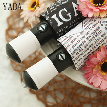 YADA High Quality Automatic Umbrella Women uv Sunny & Rainy the newspaper For Womens Windproof Folding Umbrellas YS245