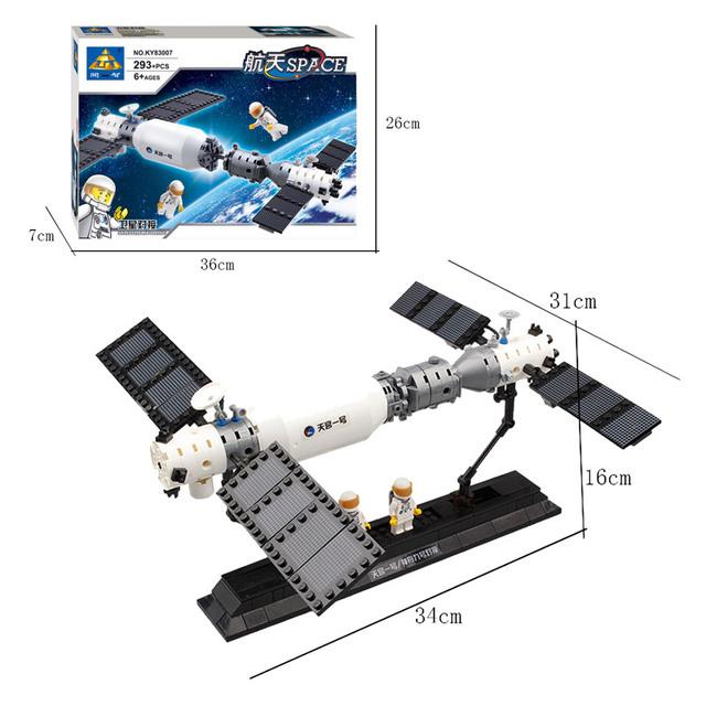 Kazi Space Station Models Building Blocks Original Technic Designer Kids Toys For Girls And Boys Educational Bricks
