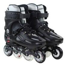 Adults Men Women's Roller Skates Black/White Inline Skating Shoes Roller Patins EU Size 36–43