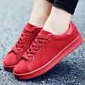 Hombres Casual Otoño Invierno Deporte Plana Zapatos Para Caminar de Cuero Genuino Amante Superstar Basket Entrenadores Zapatillas Inferiores Rojos Ocio