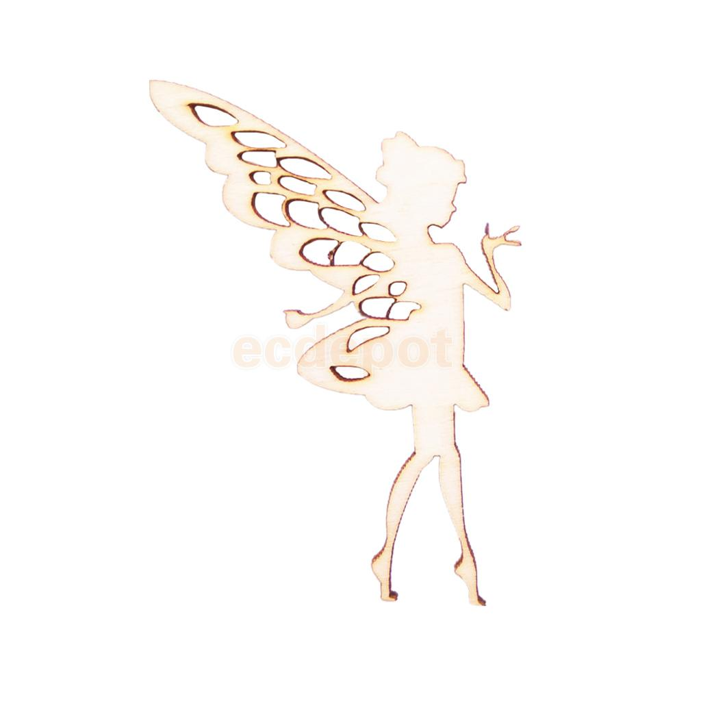 10x WOODEN CHICK SHAPES gift tag craft card scrapbook embellishment favours art