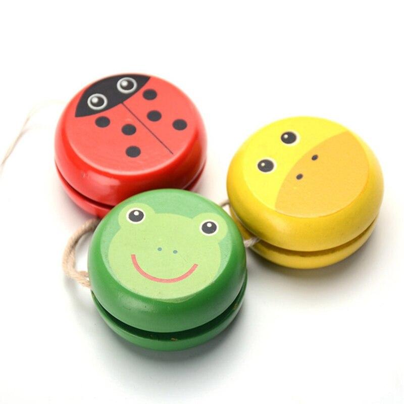 Wooden Ladybird Yo Yo Ball Blue Green Red Yellow Ladybug Yoyo Creative Toys Wooden Yo Yo Toys For Children Wyq In Short Supply Classic Toys